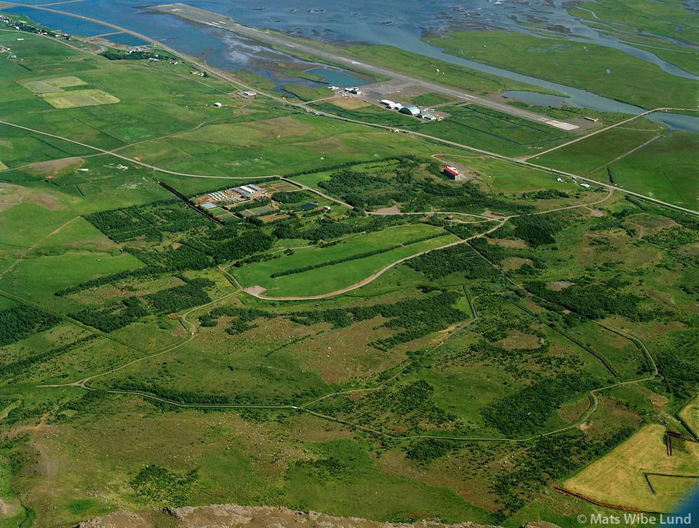 Kjarnaskógur, Akureyrarflugvöllur séð til norðausturs, Akureyri / Kjarnaskogur forest, Akureyri airport in background viewing northeast.