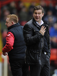Milton Keynes Dons Manager, Karl Robinson - Photo mandatory by-line: Joe Meredith/JMP - Tel: Mobile: 07966 386802 18/01/2014 - SPORT - FOOTBALL - Ashton Gate - Bristol - Bristol City v MK Dons - Sky Bet League One