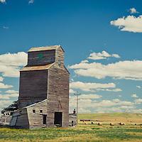 old grain elevator, abandon grain silo, montana prairie conservation photography - montana wild prairie