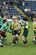 Lawrence Dallaglio's Generation Game.  Kids community tag rugby. Adams Park.25-5-2008.
