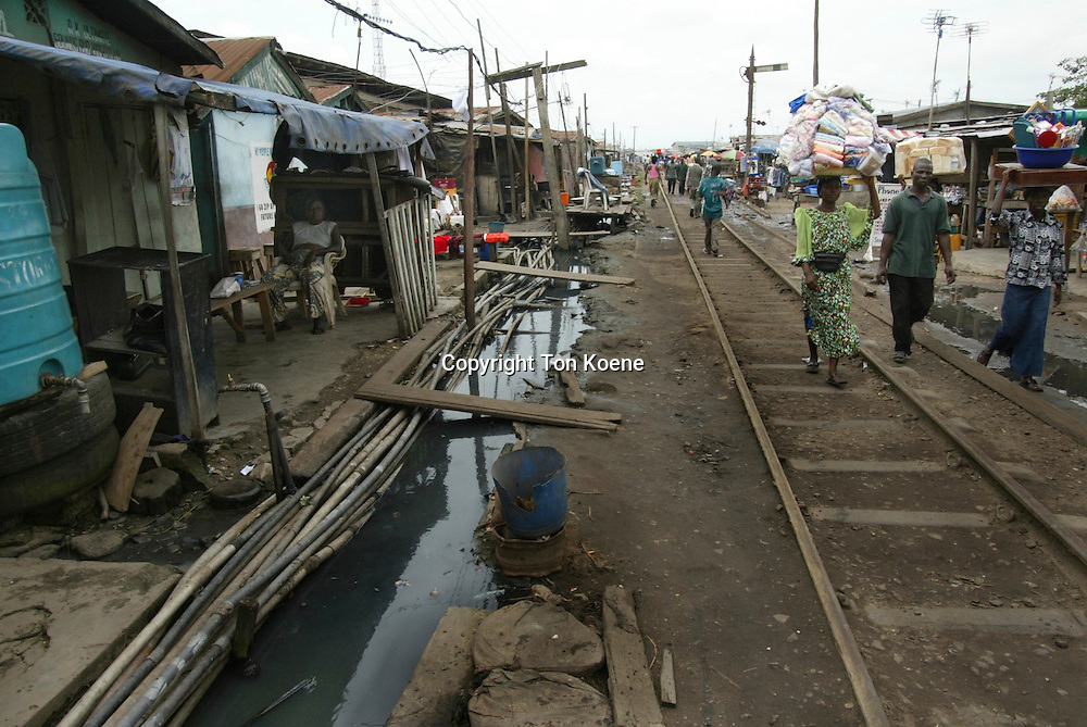 Slum area in lagos, capital of Nigeria