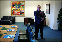 Scottish First Minister Alex Salmond waits in office to meet the British Prime Minister David Cameron for talks on the Scottish Independence referendum in St Andrews House on February 16, 2012 in Edinburgh, Scotland. David Cameron said he would consider devolving further powers for Scotland if the Scottish people voted against independence in a referendum. Photo By Andrew Parsons/ i-Images