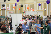 Gang Chen, Associate Professor with Ohio University's Physics and Astronomy Department, gets the attention of passersby with his demonstration during the 2016 Ohio University Majors Fair held at the Baker Center Ballroom on Wednesday, September 14, 2016.