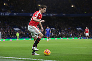 Matteo Darmian of Manchester United during the Barclays Premier League match between Chelsea and Manchester United at Stamford Bridge, London, England on 7 February 2016. Photo by Phil Duncan.