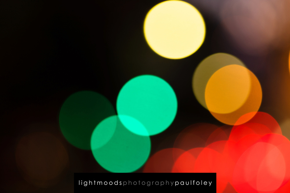 Out of focus city lights, Sydney, Australia