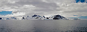 Dramatic panoraama-landscape and ice from Hornsund, south-western Spitsbergen, Svalbard, Norway.