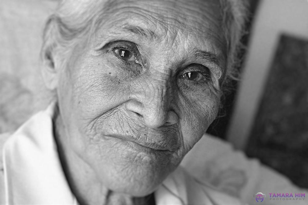 A Panamanian woman. Panama Portraits. ©Tamara Him.