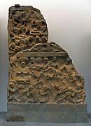 Sleep of the women The Amaravati School (1st century BC - 3rd century AD) marmoreal limestone, sculpture from Andhra Pradesh, India (South)
