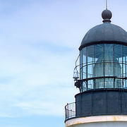 Lighthouse with an original fresnel lens. Seguin Island, Maine