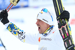 25.02.2015, Lugnet Ski Stadium, Falun, SWE, FIS Weltmeisterschaften Ski Nordisch, Falun 2015, Langlauf, Herren, 15km, im Bild JOHAN OLSSON // during the Mens 15km Cross Country Race of the FIS Nordic Ski World Championships 2015 at the Lugnet Ski Stadium in Falun, Sweden on 2015/02/25. EXPA Pictures © 2015, PhotoCredit: EXPA/ Newspix/ Tomasz Markowski<br /> <br /> *****ATTENTION - for AUT, SLO, CRO, SRB, BIH, MAZ, TUR, SUI, SWE only*****