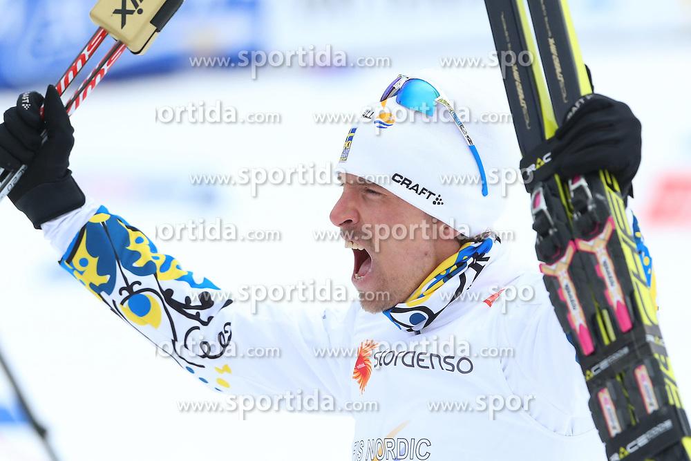 25.02.2015, Lugnet Ski Stadium, Falun, SWE, FIS Weltmeisterschaften Ski Nordisch, Falun 2015, Langlauf, Herren, 15km, im Bild JOHAN OLSSON // during the Mens 15km Cross Country Race of the FIS Nordic Ski World Championships 2015 at the Lugnet Ski Stadium in Falun, Sweden on 2015/02/25. EXPA Pictures &copy; 2015, PhotoCredit: EXPA/ Newspix/ Tomasz Markowski<br /> <br /> *****ATTENTION - for AUT, SLO, CRO, SRB, BIH, MAZ, TUR, SUI, SWE only*****