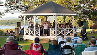 The 2nd Baptist Church in Sanbornton hosted a spaghetti dinner followed by a concert featuring the Lakes Region Big Band accompanied by singer Sureya Fetch which raised over $2300.00 in donations that will go towards the rebuilding of a new bandstand on their front lawn.  (Karen Bobotas/for the Laconia Daily Sun)