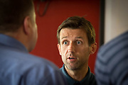 Dundee&rsquo;s manager Neil McCann talks to the press sfter signing Scott Allan and Roarie Deacon    at Dens Park, Dundee, Photo: David Young<br /> <br />  - &copy; David Young - www.davidyoungphoto.co.uk - email: davidyoungphoto@gmail.com