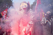 France, Paris, 13 October 2017. Protest  march by the metal producing industry in order to influence the ongoing negotiation aimed a national collective agreement.