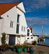 Scene from the city of Skudeneshavn, karmöy, western Norway.