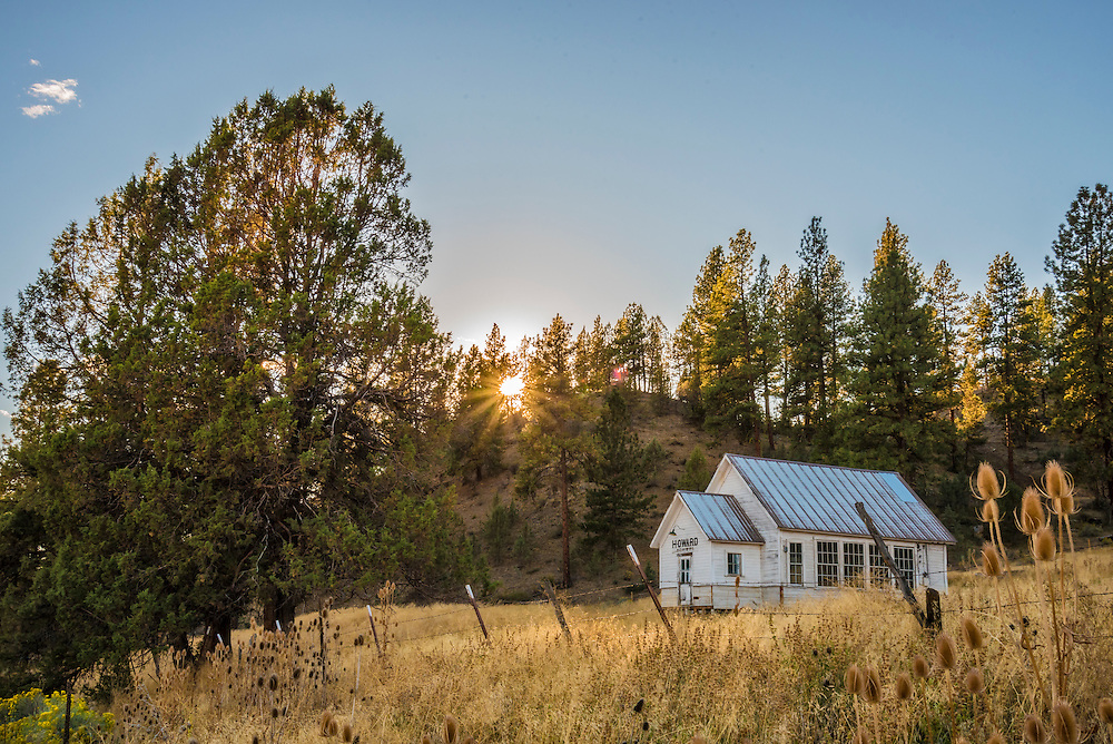 The old Howard School, Ochoco Mountains, Eastern Oregon.