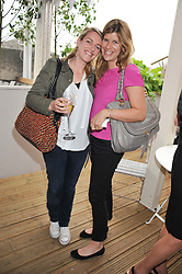 Left to right, LAURA LOPES daughter of HRH The Duchess of Cornwall and her cousin KATE ELLIOT at a party to celebrate the publication on 'Let's Eat: Recipes From My Kitchen Notebook' by Tom Parker Bowles held at Selfridge's Rooftop. Selfridge's, Oxford Street, London on 27th June 2012.