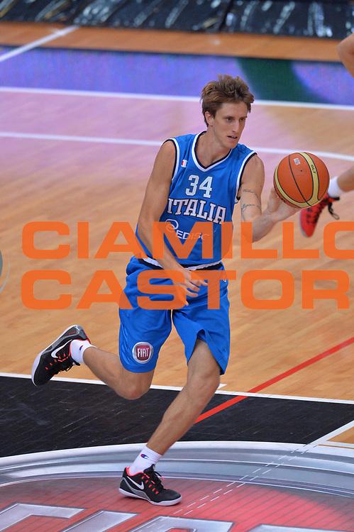 DESCRIZIONE : Trento Nazionale Italia Uomini Trentino Basket Cup Italia Belgio Italy Belgium<br /> GIOCATORE : Achille Polonara<br /> CATEGORIA : Passaggio<br /> SQUADRA : Italia Italy<br /> EVENTO : Trentino Basket Cup<br /> GARA : Italia Belgio Italy Belgium<br /> DATA : 12/07/2014<br /> SPORT : Pallacanestro<br /> AUTORE : Agenzia Ciamillo-Castoria/Max.Ceretti<br /> Galleria : FIP Nazionali 2014<br /> Fotonotizia : Trento Nazionale Italia Uomini Trentino Basket Cup Italia Belgio Italy Belgium