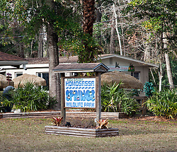 West Central Florida:  Entrance area of the Ellie Schiller Homosassa Springs Wildlife State Park.