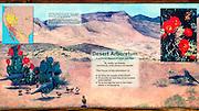 Interpretive display at Bosque del Apache National Wildlife Refuge, New Mexico USA
