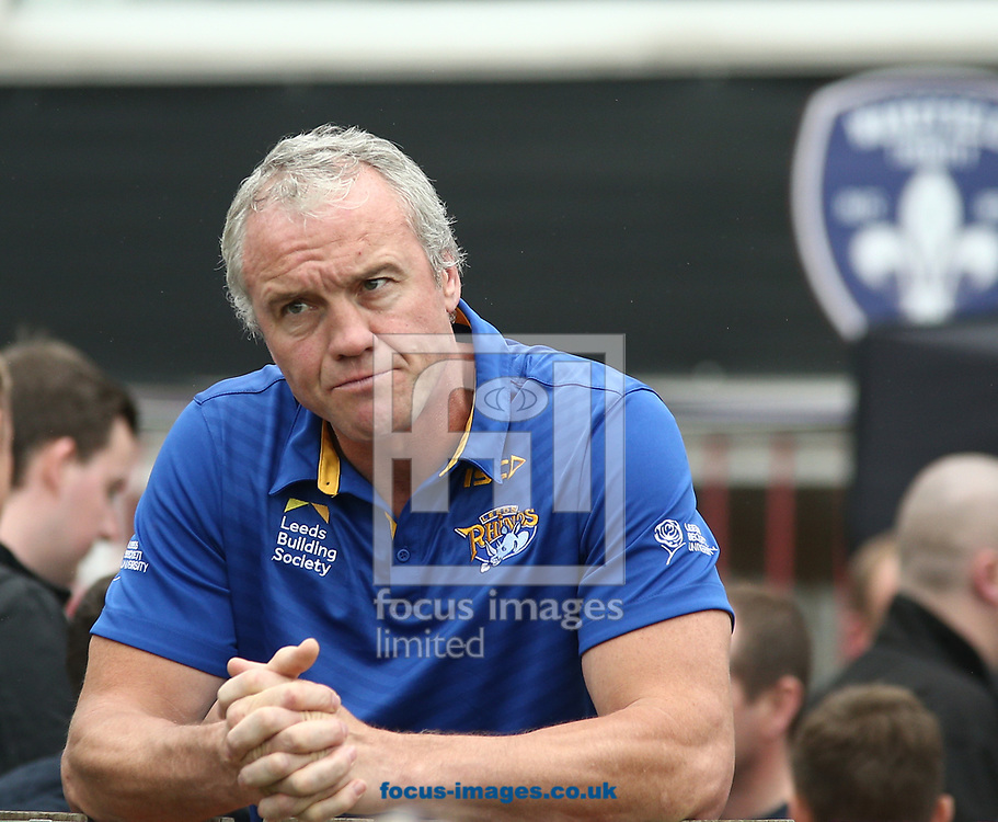 Brian McDermott (Coach) of Leeds Rhinos during the Betfred Super League match at the Beaumont Legal Stadium, Belle Vue, Wakefield<br /> Picture by Stephen Gaunt/Focus Images Ltd +447904 833202<br /> 10/06/2017