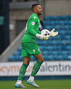 Millwall player Jordan Archer  during the Sky Bet League 1 match between Millwall and Chesterfield at The Den, London, England on 29 August 2015. Photo by Bennett Dean.