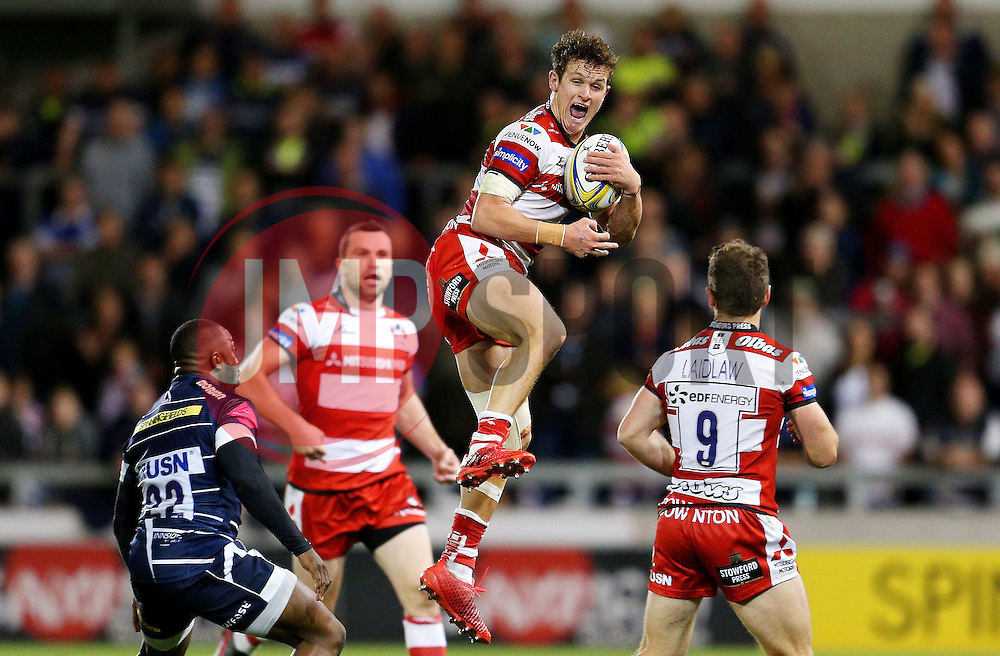 Billy Burns of Gloucester Rugby catches the ball  - Mandatory by-line: Matt McNulty/JMP - 16/09/2016 - RUGBY - Heywood Road Stadium - Sale, England - Sale Sharks v Gloucester Rugby - Aviva Premiership