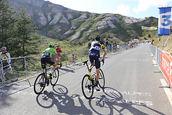Damien Howson Orica-Scott and Simon Clarke (AUS) Cannondale Drapac climb Col d'Izoard during Stage 18 of the 104th edition of the Tour de France 2017, running 179.5km from Briancon to the summit of Col d'Izoard, France. 20th July 2017.<br /> Picture: Eoin Clarke | Cyclefile<br /> <br /> All photos usage must carry mandatory copyright credit (© Cyclefile | Eoin Clarke)