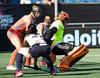 BREDA - keeper Anne Veenendaal (Ned)  tijdens de finale  Nederland-Japan (8-2) van de 4 Nations Trophy dames 2018 . COPYRIGHT KOEN SUYK