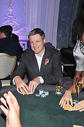 ZAC GOLDSMITH at the Quintessentially Foundation poker evening at The Savoy Hotel, London on 30th October 2012.