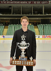 2015-16 CHL Award Winner Carter Hart at the ENMAX Centrium in Red Deer, Alberta on Saturday May 28, 2016. Photo by Terry Wilson / CHL Images.