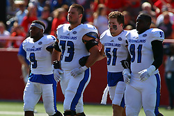 17 September 2016:  Devin Church, Evan Kanz, Seth McDonald, and Jarvis Williams.  NCAA FCS Football game between Eastern Illinois Panthers and Illinois State Redbirds for the 105th Mid-America Classic on Family Dat at Hancock Stadium in Normal IL (Photo by Alan Look)