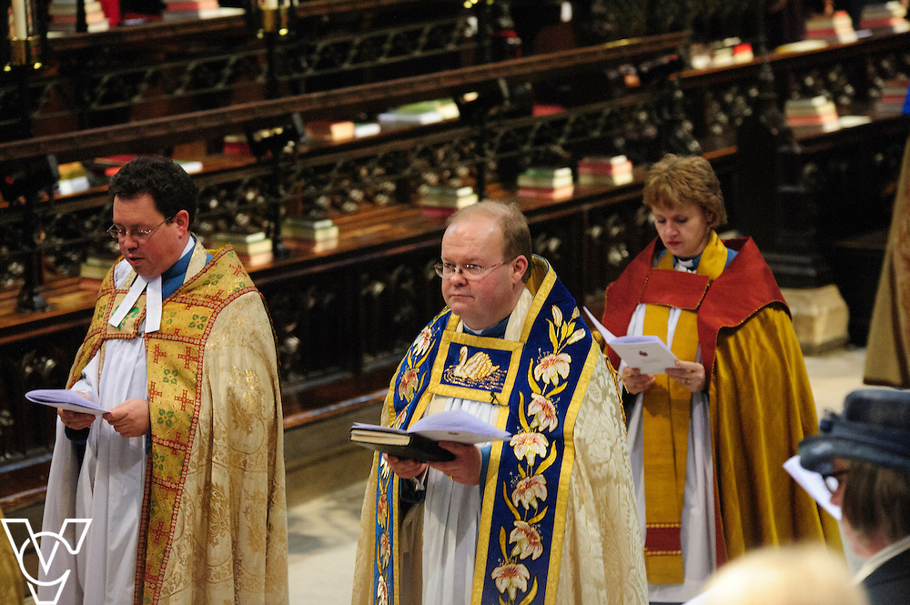 Solemn evensong with the installation of the Reverend Canon Gavin Kirk as Archdeacon of Lincoln at Lincoln Cathedral<br /> <br /> Picture: Chris Vaughan/Chris Vaughan Photography<br /> Date: March 27, 2016