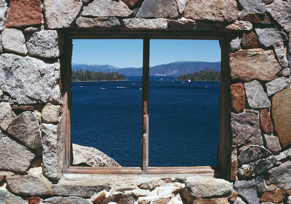 Lake Tahoe Landscape, Lake Tahoe Emerald Bay Teahouse