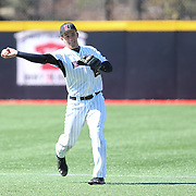 Jason Vosler #22 of the Northeastern Huskies throws the ball during the game at Friedman Diamond on March 16, 2014 in Brookline, Massachusetts. (Photo by Elan Kawesch)
