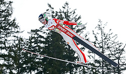 03.01.2015, Bergisel Schanze, Innsbruck, AUT, FIS Ski Sprung Weltcup, 63. Vierschanzentournee, Training, im Bild Matjaz Pungertar (SLO) // Matjaz Pungertar of Slovenia in action during Trial Jump of 63 rd Four Hills Tournament of FIS Ski Jumping World Cup at the Bergisel Schanze, Innsbruck, Austria on 2015/01/03. EXPA Pictures © 2015, PhotoCredit: EXPA/ Peter Rinderer