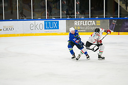 Miha Logar during international tournament Euro ice hockey challenge on a friendly game with Hungary, on February 7, 2019 in Bled, Slovenia. Photo by Peter Podobnik / Sportida