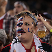 Landon Donovan fans during his farewell match at the USA Vs Ecuador International match at Rentschler Field, Hartford, Connecticut. USA. 10th October 2014. Photo Tim Clayton