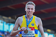 Neil GOURLEY, winner of the Men's 1500m Final during the Muller British Athletics Championships at Alexander Stadium, Birmingham, United Kingdom on 25 August 2019.