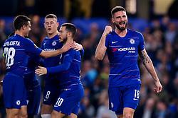 Olivier Giroud of Chelsea scores a goal to make it 3-0 - Mandatory by-line: Robbie Stephenson/JMP - 18/04/2019 - FOOTBALL - Stamford Bridge - London, England - Chelsea v Slavia Prague - UEFA Europa League Quarter Final 2nd Leg
