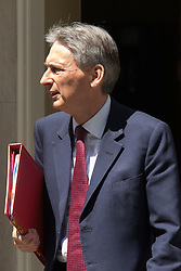 Downing Street, London, June 16th 2015. Home Secretary Philip Hammond leaves 10 Downing Street.