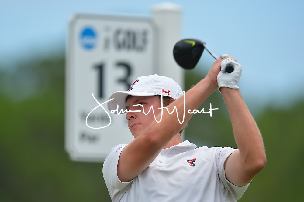 Wes Artec during the first round of the NCAA Golf Championships at the Concession Golf Club in Bradenton, FL.