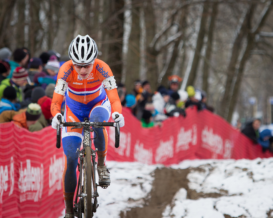 A very determined Marianne Vos.  ©Brian Nelson