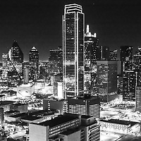 Downtown Dallas as seen from Reunion Tower at night