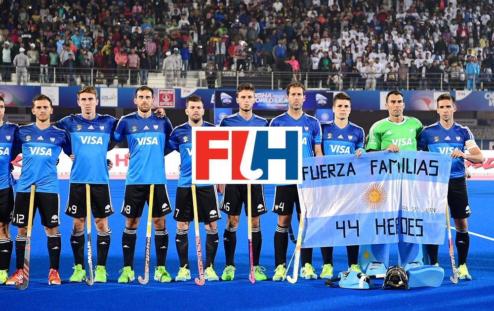 Odisha Men's Hockey World League Final Bhubaneswar 2017<br /> Match id:08<br /> Netherlands v Argentina<br /> Foto: Line Up<br /> WORLDSPORTPICS COPYRIGHT FRANK UIJLENBROEK