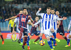 February 28, 2017 - San Sebastian, Spain - Match day of La Liga Santander 2016 - 2017 season between Real Sociedad and S.D Eibar, played Anoeta Stadium on Thuesday, March 28th, 2017. San Sebastian, Spain. 15 Do Santos, 17 Zurutuza. (Credit Image: © Ion Alcoba/VW Pics via ZUMA Wire/ZUMAPRESS.com)