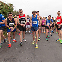 Racers lining up at the start line at the 2015 Hurley Hoey Charity 10K Run