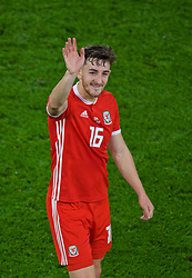 CARDIFF, WALES - Sunday, October 13, 2019: Wales' Tom Lockyer waves to supporters after the UEFA Euro 2020 Qualifying Group E match between Wales and Croatia at the Cardiff City Stadium. The game ended in a 1-1 draw. (Pic by Paul Greenwood/Propaganda)