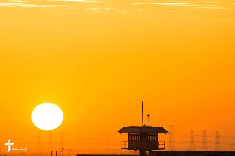 The sun rises over Camp Arifjan on Tuesday, March 24, 2015, in Kuwait. LCMS Communications/Erik M. Lunsford
