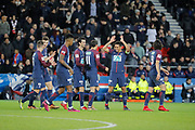 Marcos Aoas Correa dit Marquinhos (PSG) celebrated it goal scored with Angel Di Maria (psg), Javier Matias Pastore (psg), Edinson Roberto Paulo Cavani Gomez (psg) (El Matador) (El Botija) (Florestan), Presnel Kimpembe (PSG), Thomas Meunier (PSG), Giovani Lo Celso (PSG) during the French Cup, round of 32, football match between Paris Saint-Germain and EA Guingamp on January 24, 2018 at Parc des Princes stadium in Paris, France - Photo Stephane Allaman / ProSportsImages / DPPI